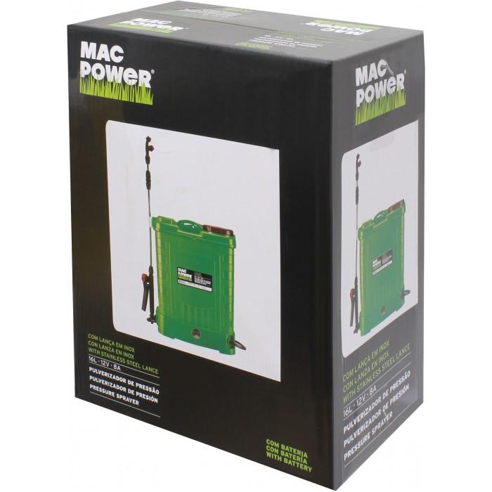 Pulverizador MAC POWER 16L C/BAT. 12V